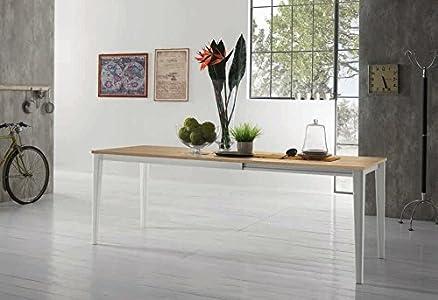 Zamagna - Tavolo allungabile Dom 160 Zamagna - Struttura: Alluminio laccato cappuccino - Piana: Melaminico bianco poro aperto