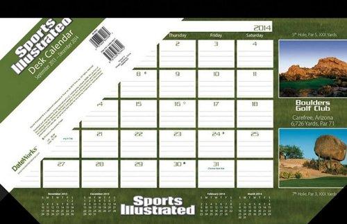Sports Illustrated Golf Courses 2014 Desk Pad Calendar