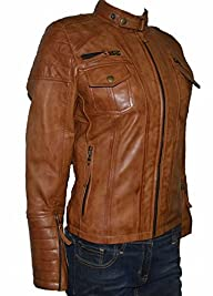 Classyak Women Fashion Leather Jacket…