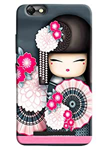 Omnam Chinese Dance Cartoon Effect Girls Printed Designer Back Cover Case For Lenovo Vibe C (A2020)