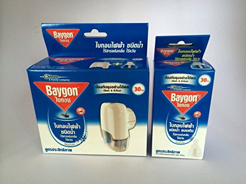 Baygon Liquid Electric Mosquito Repeller 30 Days 0.77 Oz. Free 1X Refillable