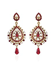 I Jewels Tradtional Gold Plated Elegantly Handcrafted Pair Of Fashion Earrings For Women. - B00N7IQ8GC