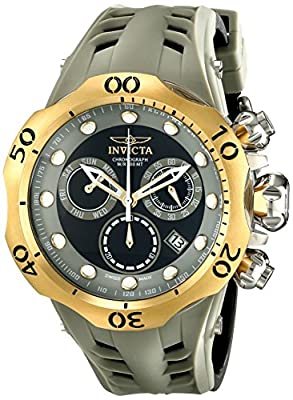 Invicta Men's 16992 Venom Analog Display Swiss Quartz Black Watch