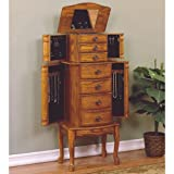 "Powell ""Woodland Oak"" Jewelry Armoire"