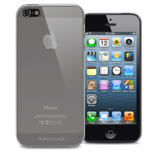 KaysCase Slim Soft Skin Cover Case for Apple New iPhone 5 2012 Version, Screen Protector (frost clear)