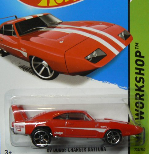 Hot Wheels HW Workshop 234/250 Red '69 Dodge Charger Daytona