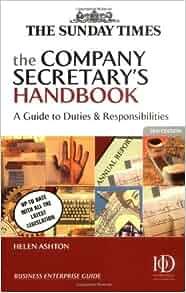 duties of company secretary pdf