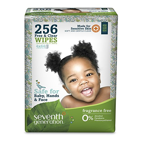 Seventh Generation Baby Wipes - Unscented - 256 ct
