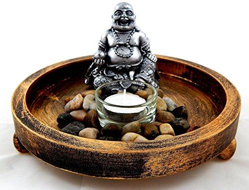 Jardin zen feng shui redondo buda eskultura buda estatua - Jardines zen miniatura ...