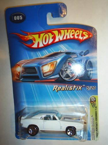 Mattel Hot Wheels 2005 1:64 Scale White 1969 Pontiac Firebird Die Cast Car #005 - 1