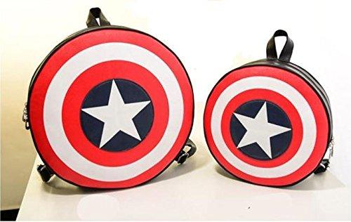 Nido del Bimbo 1000399 - [GRANDE] Zaino Zainetto Borsa Captain America (Capitan) - Scudo Shield 2 dimensioni (Grande 44x44cm)