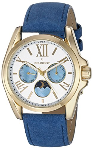 Peugeot Women's 3040GBL Analog Display Japanese Quartz Blue Watch