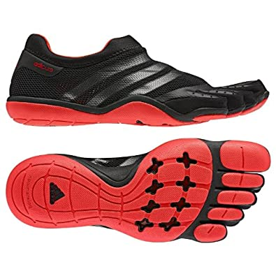 Adidas Men's adiPure Trainer Barefoot Shoe, G61027, Black/Neon Iron Metallic/Core Energy