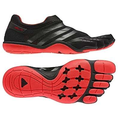 Adidas Men's adiPure Trainer Barefoot Shoe, G61027, Black/Neon Iron Metallic/Core Energy