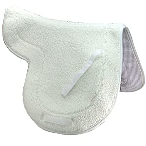 Intrepid International English Fleece Non Slip Close Contact Saddle Pad