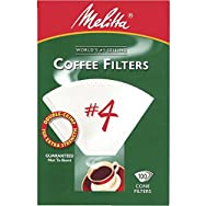 Melitta U S A Inc 624102 No. 4 Cone Coffee Filter-WHITE #4 COFFEE FILTER