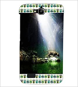 PrintDhaba Leopard D-4129 Back Case Cover for HUAWEI HONOR HOLLY (Multi-Coloured)