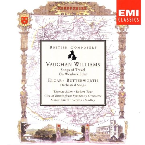 On Wenlock Edge by Ralph Vaughan Williams, Edward Elgar, George Butterworth, Simon Rattle and Vernon Handley