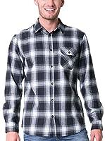 BIG STAR Camisa Hombre Baniro_Shirt_Ls 466 L (Azul Noche)