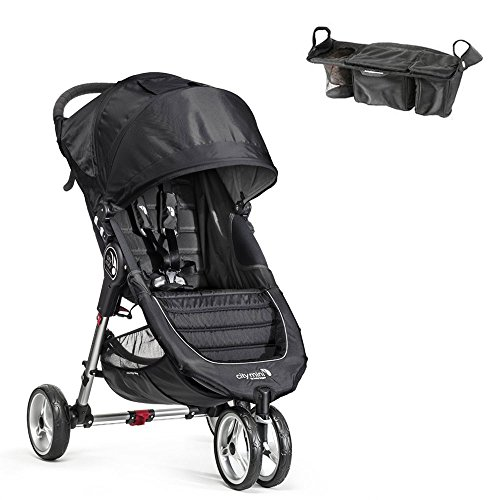 City Mini 3W Single Stroller In Black/Gray W Parent Console front-393553