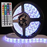 XKTTSUEERCRR 5M 16.4Ft RGB 5050SMD 300LED Waterproof Flexible LED Light Strip lamp + 44Key IR Remote