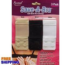Save a Bra Soft Back Bra Extender 3 Pk
