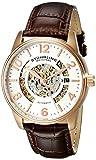 Stuhrling Original Mens 649.02 Legacy Analog Display Automatic Self Wind Brown Watch