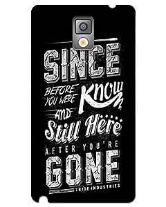 Hugo Samsung Galaxy Note 3 Back Cover Hard Case Printed