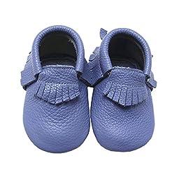 Mejale Baby Soft Soled Leather Lavender Tassels Slip-on Infant Toddler Baby Shoes Prewalker
