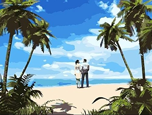 Young Lovers Sand Beach Paint By Number