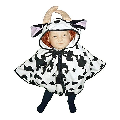 [Fantasy World Boys/Girls Cow Halloween Cape Costume, One Size, J55] (Toddler Frog Prince Halloween Costume)