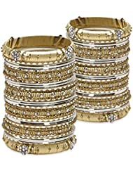 Deep Detailing Bangle Set- Cream Lacquer Wedding Bangles For Women