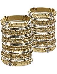 Deep Detailing Bangle Set- Cream Lacquer Wedding Bangles For Women