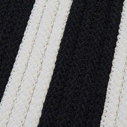 Baxter Area Area Rug, 8' SQUARE, BLACK WHITE