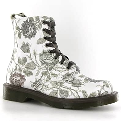 Amazon.com: Dr.Martens Pascal Tapestry Grey Leather Womens Boots Size