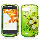 Plastic Green Flowers And Butterfly Hard Cover Snap On Case For ZTE Fury N850 / Valet Z665C + Free Car Charger (Accessorys4Less)