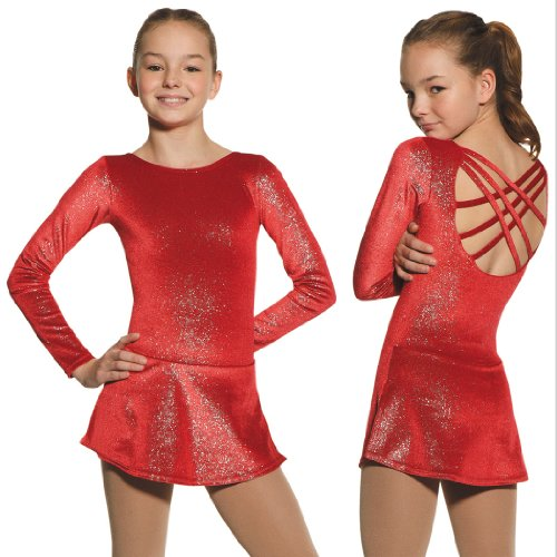 Mondor 2728 Born To Skate Glitter Velvet Figure Skating Dress rubu customization ice skating dress competition ice skating dress for sale new brand figure skating competition dress