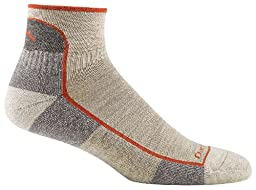 Darn Tough Vermont Men's Merino Wool 1/4 Cushion Socks, Oatmeal, Large