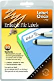 Jokari Label Once Erasable File Labels Starter Kit with 80 Labels, Eraser and Pen