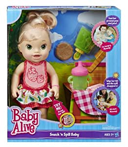 Amazon Com Baby Alive Snack N Spill Baby Blonde Toys