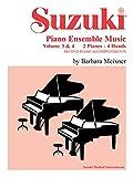 Suzuki Piano Ensemble Music: 2 Pianos, 4 Hands - Second Piano Accompaniments v. 3 & 4 (Suzuki Method Ensembles)