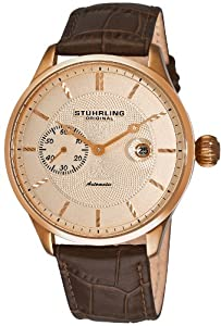 Stuhrling Original Men's 148B.3345K14 Classic Heritage Automatic Mechanical Date Rose Tone Watch