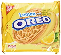 Oreo Lemon Creme Cookies, Limited Edition 15.25oz Bag (2 Pack) by Nabisco