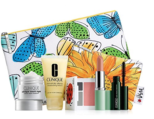 new-2016-clinique-7-pc-makeup-skincare-gift-set-blue-butterfly-bag-cool