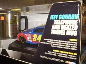 Nascar Jeff Gordon Telephone and Heated Travel Mug Set by King America