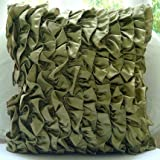 Vintage Olives - 16x16 Inches Throw Pillow Covers - Satin Pillow Cover with Satin Ruffles
