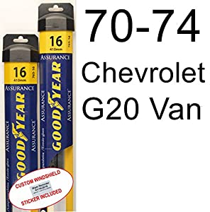 1970 1974 chevrolet g20 van replacement wiper blade set kit 2 blades goodyear. Black Bedroom Furniture Sets. Home Design Ideas