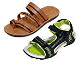 Indistar OD-Boy Super Comfortable Men's Casual 1 Sandal and 1 Floater