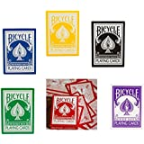 Bicycle Red, Black, Yellow, Blue, Purple, and Green Decks - Gaff Cards From Magic Makers