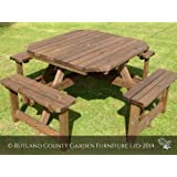 PICNIC TABLE - OCTAGONAL - PUB STYLE BENCH - 8 SEATER - HEAVY DUTY - HAND MADE IN THE UK - PRESSURE TREATED!!